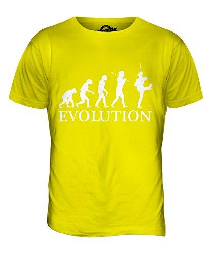 CandyMix Marsch Marcherende Soldaten Evolution Des Menschen Herren T Shirt Zitronengelb