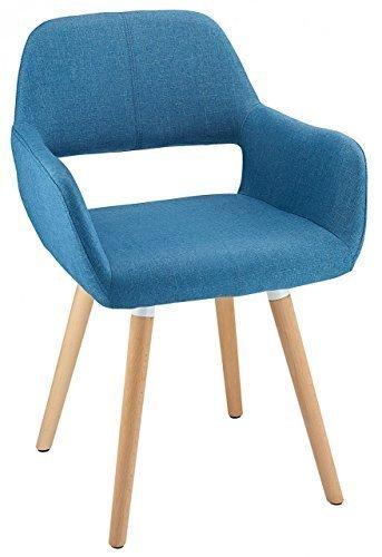 Oslo Chaise de salle à manger en tissu bleu