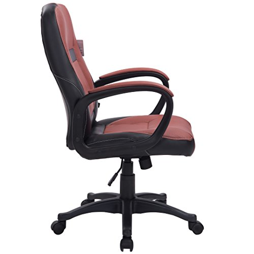 Brand New Design Swivel PU Leather Brown Color Office Chair MOO19BK