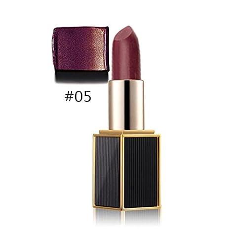 Rouge à lèvres 2017 Rawdah Sirène Shimmer Or Rouge à lèvres Glitter pigment métallique Lip Gloss Long Lasting (#5)