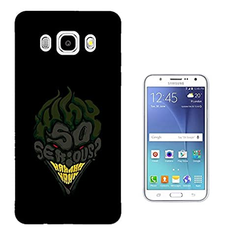 002766 - So Serious Joker Smiling Hero Design Samsung Galaxy J5 (2016) SM - J510X Fashion Trend Protecteur Coque Gel Rubber Silicone protection Case Coque