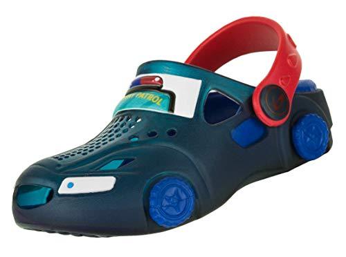 Beppi Jungen Clogs Car - Jungs Auto Schuhe, Blau, Gr. 28
