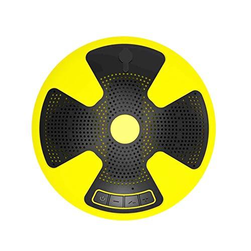 Altavoz Bluetooth Portátil, Mini TWS Deep Bass 3D Estéreo Bluetooth Inalámbrico, Reproductor De Audio Flotante para Piscina Impermeable IPX7, 8 Horas De Reproducción, Amarillo (Yellow)