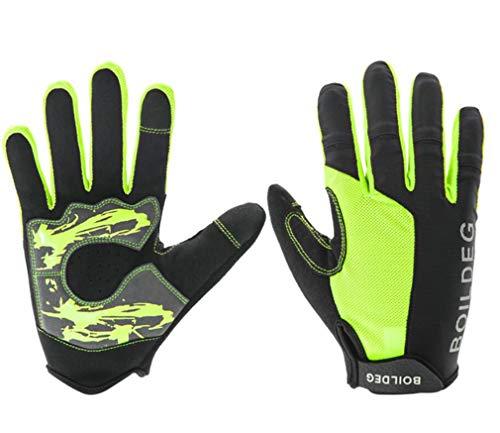DUBAOBAO Fingerhandschuhe, Touchscreen Lycra Silikon, Rutschfeste, atmungsaktive Sonnencreme, Outdoor-Sportgeräte, Reiten, Outdoor-Sportarten usw,Green,L