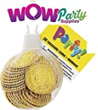 WOW Plastic Gold Treasure Coins Party Bag Fillers, Pack of 30