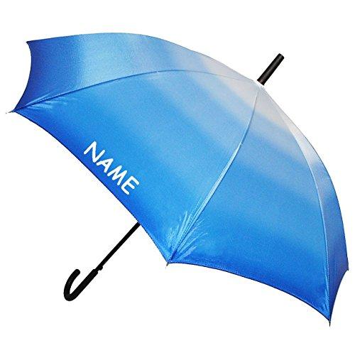 """großer XL Regenschirm - Automatik - """" einfarbig blau - Töne / Batik - Regenbogen """" - ø 110 cm - incl. Name - Schirm - Stockschirm für - Damen - Frauen & Herren / Erwachsene - Partnerschirm - Automatikschirm groß / sturmfest - einfarbige blaue - Regenschirme"""