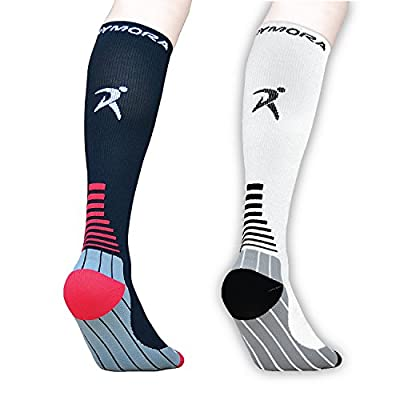 Compression Socks (Cushioned, Graduated Compression, Unisex for Men and Women) (Ideal for Sports, Work, Flight, Pregnancy)