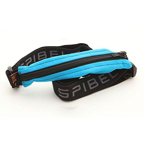 Spibelt Original Basic Turquoise with Black Zipper Lauftasche, S-XL Basic-zipper