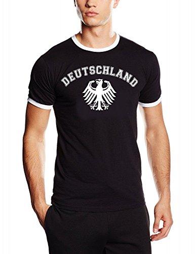 Coole-Fun-T-Shirts - Top - Maniche corte Deutschland Schwarz