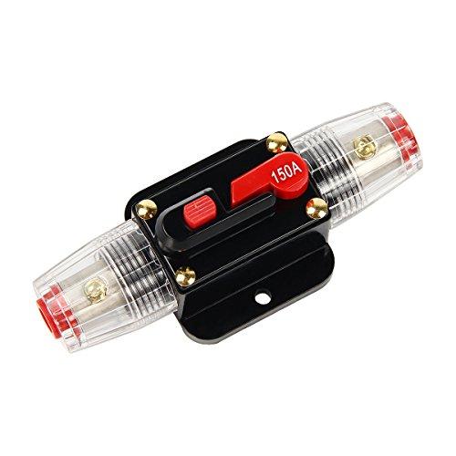 Latinaric 12V-24V DC Inline Auto Leistungsschalter Manuelle Reset Schalter Audio Sicherung 20A/30A/40A/50A/60A/80A/100A/150A -
