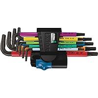 Wera 05024179001 967 SL/9 TORX HF Multicolour Winkelschlüsselsatz mit Haltefunktion, 9-teilig