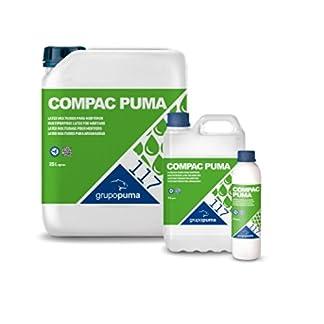 Compac-Puma: Látex multiuso gel. Aditivo impermeabilizante para morteros. Ideal para rejunteo de gresites en piscinas. Bote 1 Litro