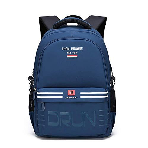 Nylon wasserdichte Grundschule Grundschüler Schulranzen Rucksack Für Mädchen Jungen Schultasche Bookbag Klasse 4-9 Schulrucksäcke (Farbe: Blau 1, Größe: One Size)