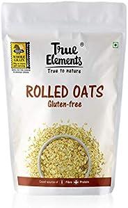 True Elements Gluten Free Rolled Oats 1kg - Protein Rich Oats for Breakfast