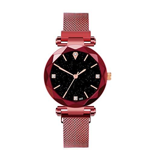 Yallylunn Damenuhren Minimalismus Sternenhimmel Magnet Schnalle Lässige Damen Armbanduhr Exquisites es Zifferblatt Mit Mailand Armband Schlanker Minimalist