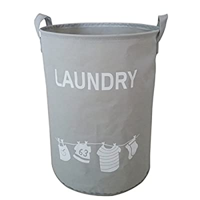 Hoomall Foldable Laundry Hamper Large Cylindric Closet Storage Bin Bag Storage Basket Bucket 34x45cm by Ourstory