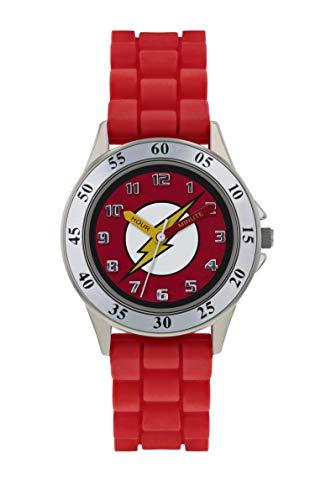 a75f7253d8f2 The Flash Reloj Analógico para Niños de Cuarzo con Correa en Caucho  FLH9050