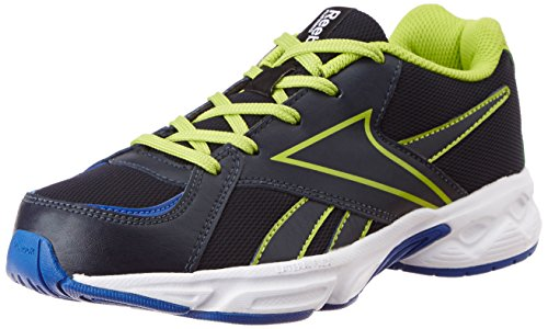 Reebok Girl's Spark Lp Blue, Green, Blue and White Mesh Sneakers