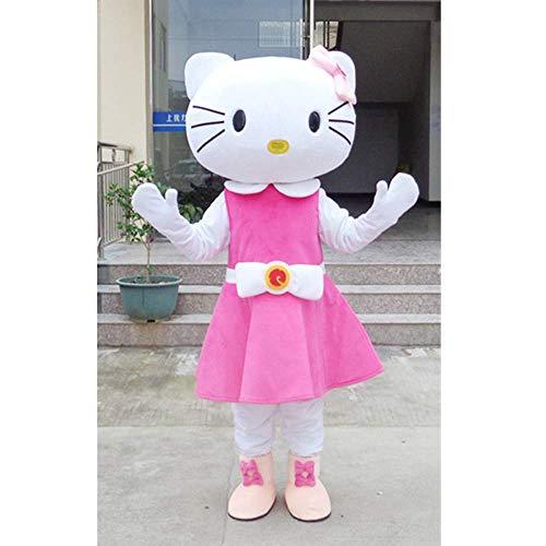 Unbekannt Hellokitty-Katzenpuppenmaskottchen-Karikaturpuppenkostüm gehende Puppenshowkostüm-Maskottchenhalloween-Ereignisanzeigenwerbung