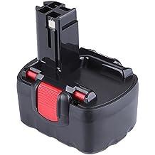 FLOUREON 14.4V Ni-CD 2000mAh Reemplazo de batería para BOSCH BAT038 BAT040 BAT041 BAT140 BAT159 BOSCH 13614 13614-2G 15614 1661 1661K 22614 32614 3660K 52314 AHS 41 ART 26 GDR 14.4 GSR 14.4
