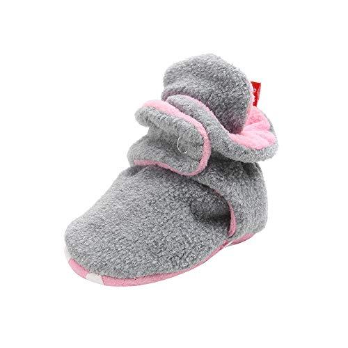 (Baby Booties Rutschfeste Greifer Unisex Krabbel Hausschuhe SchüHchen Warme Winterschuhe Neugeborene Bootie Premium Soft Sole Anti-Rutsch Infant Kleinkind Prewalker Baby-Schuh(grau,13))