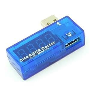 Autek Chargeur USB Doctor détecteur de tension actuel USB Mobile Power courant et de tension Testeur Amp Volt Reader (3.5V-7.0V, 0-3A)