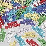 Amscan International Confetti Metallic Happy Birthday