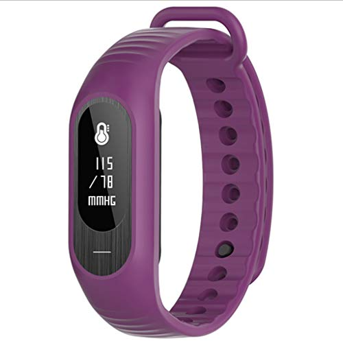 XXH Smart Armband Herzfrequenz Blutdruck Gesunden Schlaf Überwachung Bluetooth Sport Armband smart-Watch (Color : Purple) -