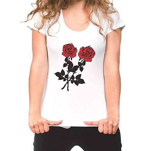 JUNMAONO T-Shirt Damen Frauen Kurzarm Blumen Pumps Gedruckt Tops Strand Beiläufige Lose T-Shirt Shirt Sommer Kurzarm T-Shirt O-Ausschnitt Baum Gedruckt Tops Strand Shirt Beiläufige Bluse Oberteil -