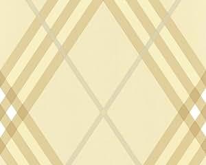 Livingwalls 6688-68 Tapete, Karomuster, beige gold, Design by Lars Contzen