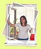 Mako Fenstergitter mit Alurahmen in braun, 100 x 120 cm Insektenschutz - Alu-Rahmen Bausatz