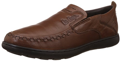 116-07 Brown Leather Loafers and Mocassins Ruosh Mens MCD