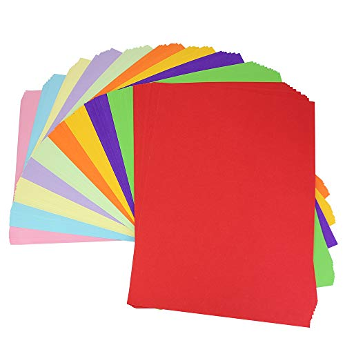 LYTIVAGEN 100 Blätter Bunt A4 Papier Faltpapier Farbigen Origami Papier Bastelpapier für DIY, Kunst, Handwerk, 10 Farben