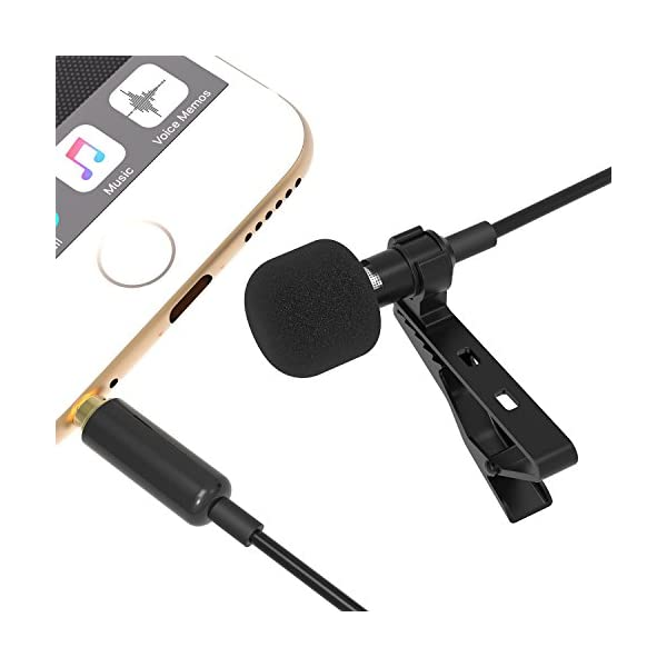 Sabrent Lavalier / Lapel Clip-on Omnidirectional Condenser Microphone for iPhone & Android Smartphones or any other mobile device (AU-SMCR)