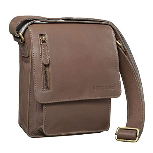 47bf9d1b23 Amazon STILORD. STILORD 'Finn' Petite Sac a Bandouliere pour Hommes Vintage  Sacoche Sac Messager ...