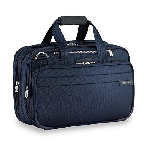 Briggs & Riley Unisex-Erwachsene Expandable Cabin Bag Übernachtung Duffel, Blau (Navy), 42 centimeters -