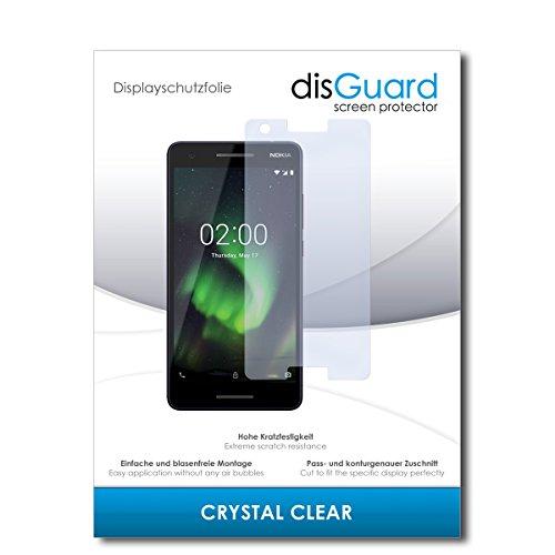 disGuard® Bildschirmschutzfolie [Crystal Clear] kompatibel mit Nokia 2.1 [2 Stück] Kristallklar, Transparent, Unsichtbar, Extrem Kratzfest, Anti-Fingerabdruck - Panzerglas Folie, Schutzfolie
