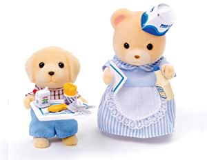 Sylvanian Families Francesca The Fish Fryer and Sonny The Customer