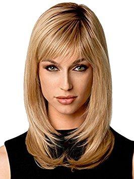Beauty Smooth Hair Mode Stylish Lang Ingwer Blonde Gerade Haar Perueckes fuer Frauen LC51 -