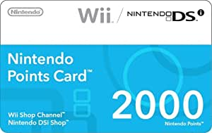 Nintendo Points Card 2000 (Nintendo DS/Wii)