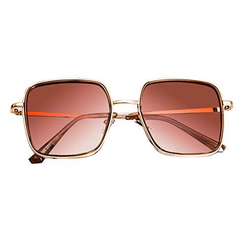 FeiliandaJJ Sonnenbrille für Damen Herren Polarisiert Verspiegelt Aviator Vintage Metall Brillenfassungen Unisex Sunglasses (Gold)