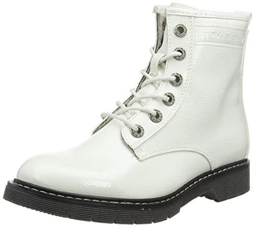 TOM TAILOR Damen 7992801 Stiefeletten, Weiß (White 00002), 39 EU