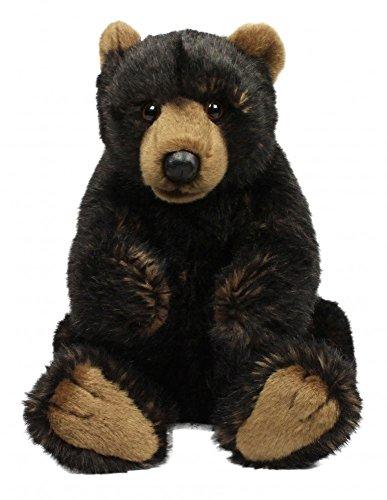 wwf-plusch-kollektion-wwf16738-pluschfigur-grizzly-sitzend-23-cm-schwarz-pluschtiere
