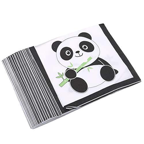 Beafavor Niedlichen Panda Baby Geburtstag Geschirr Dekoration Party Tischdecke Serviette Party Supplies (20 Blatt Papier Handtücher)