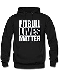 Pitbull Lives Matter Womens Long Sleeve Cotton Hoodie