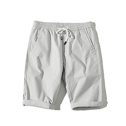 YURACEER Sommer Herren Cowboy Shorts Kurze Hosen Baumwolle Shorts Männer Elastische Taille Shorts Herren Atmungsaktive Casual Shorts für Männlichen Strand Kurze Männlichen(Kein Gürtel) x1