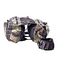 YOUJIA Dog Backpack Saddle Bag Rucksack Adjustable Dog Harness Back Pack Portable Carriers for Walking Camouflage L