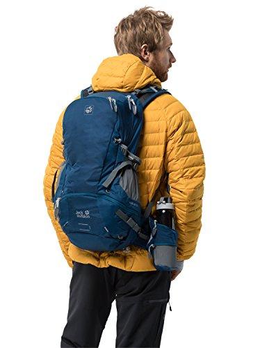 Jack Wolfskin MOAB JAM 34 Polyamide, Polyester Blue backpack - Backpacks (Polyamide, Polyester, Blue, Monotone, 210 D, Unisex, Front pocket, Hip belt pocket, Side pocket)
