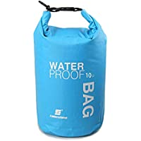 LUCKY STONE Boat Dry Bags Waterproof Small/Large Dry Bag For Drifting Boating Kayaking Fishing Rafting Swimming Camping Canoeing Surfing Blue/Green/Red/White 2L/5L/10L/15L