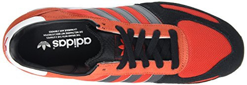 adidas La Trainer, Sneakers Basses Homme Rouge - Rot (Red/Core Black/Dgh Solid Grey)